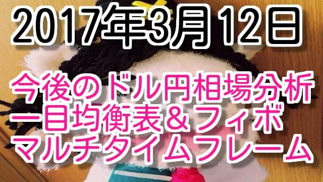 2017年3月12日今後のドル円相場マルチタイムフレーム分析動画