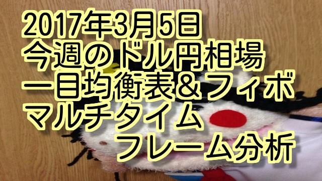 2017年3月5日今後のドル円相場マルチタイムフレーム分析動画